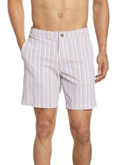 Onia Calder Seersucker Swim Trunks