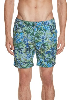Onia Calder Tropics Print Swim Trunks