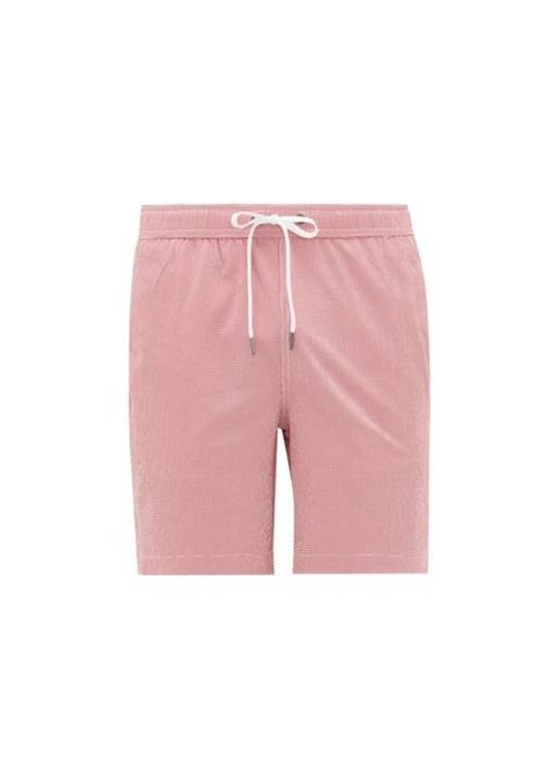 Onia Charles 7 gingham swim shorts