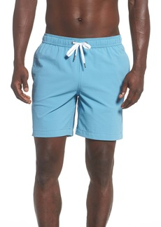 Onia Charles Microstripe Seersucker Swim Trunks