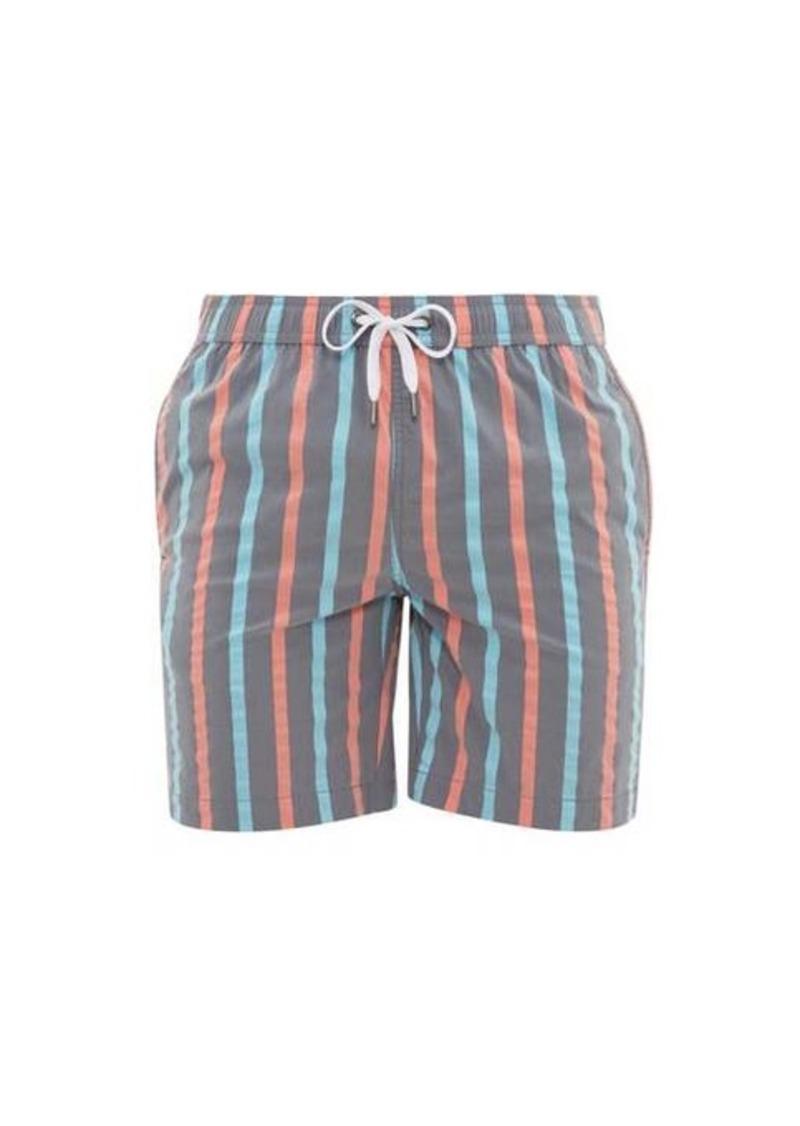 Onia Charles striped stretch-shell swim shorts