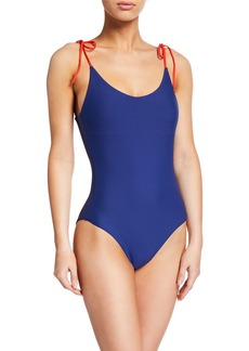 Onia Ginny Ribbed One-Piece Swimsuit