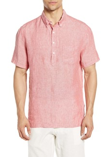 Onia Josh Short Sleeve Button-Down Linen Popover Shirt