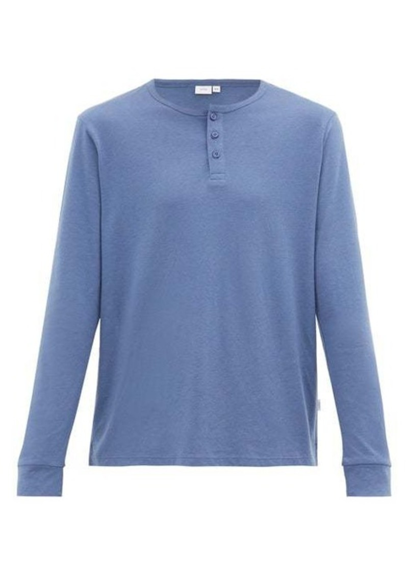 Onia Miles long-sleeved cotton and modal henley top