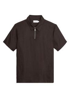 Onia Men's Ben Linen Zip Polo