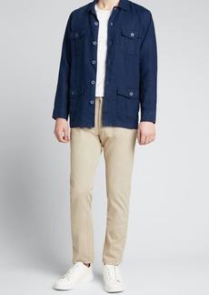 Onia Men's Linen Safari Jacket