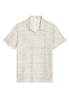 Onia Men's Shaun Stripe Linen Polo