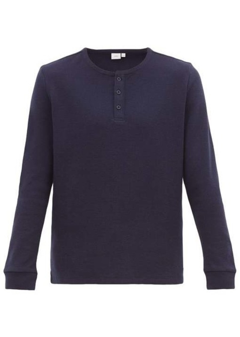 Onia Miles cotton-blend waffle henley top