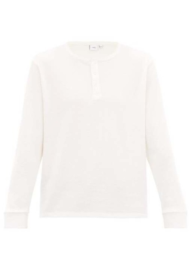 Onia Miles long-sleeved waffled cotton-blend T-shirt