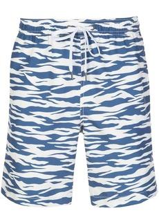 Onia Zebra print swim shorts