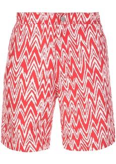 Onia zigzag print swim shorts