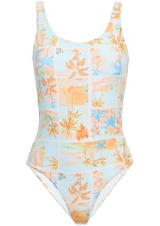 Onia Woman Kelly Open-back Swimsuit Mint