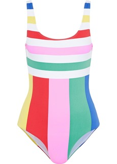 Onia Woman Kelly Striped Swimsuit Multicolor