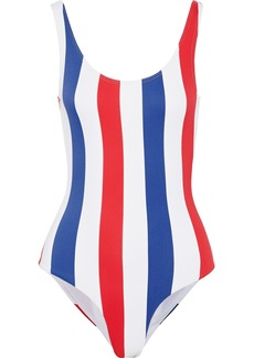 Onia Woman Kelly Striped Swimsuit White