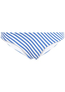 Onia Woman Lily Metallic Striped Low-rise Bikini Briefs Blue
