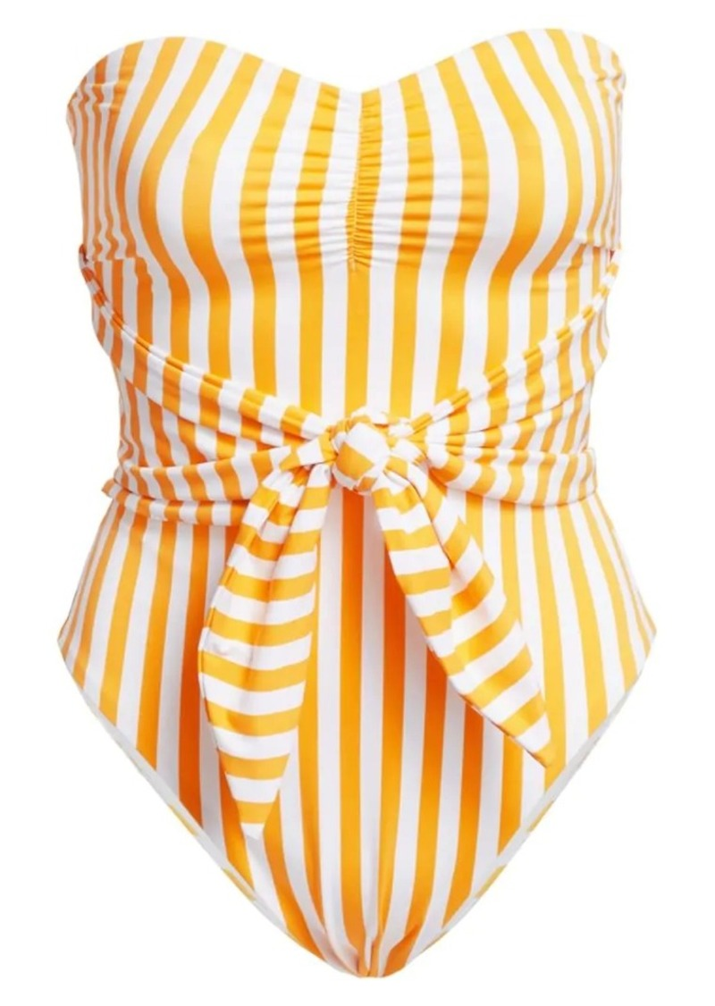 Onia X WeWoreWhat Capri Striped One-Piece Swimsuit