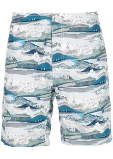 Onia printed swim trunks