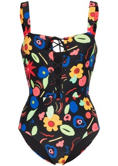 Onia raquel floral-print swimsuit