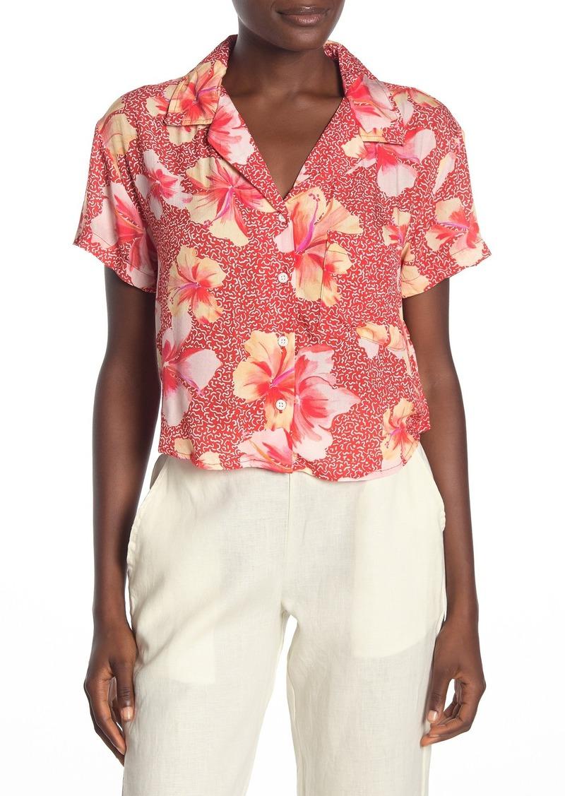 Onia Skylar Cropped Hawaiian Shirt