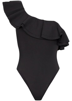 Onia Stella one-shoulder ruffle swimsuit
