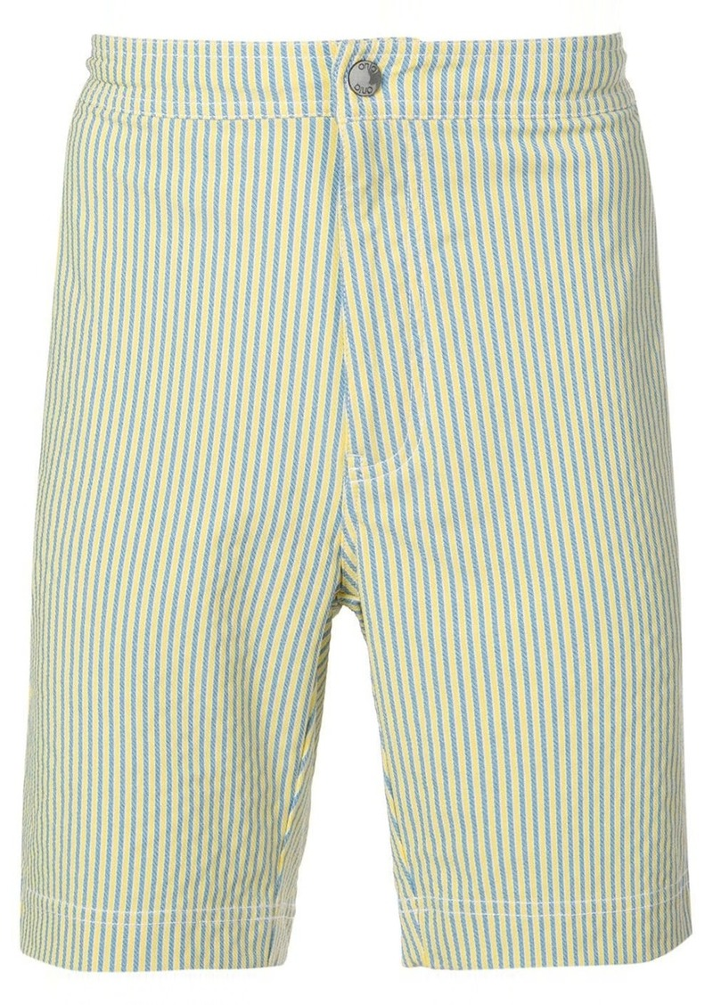 Onia striped swimming shorts