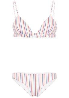 Onia striped triangle bikini