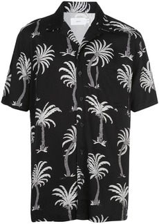 Onia Vacation palm tree print shirt
