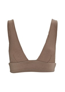 Only Hearts Eco Rib Knit Triangle Bralette