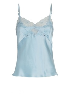 Only Hearts Lace-Trimmed Silk Charmeuse Camisole
