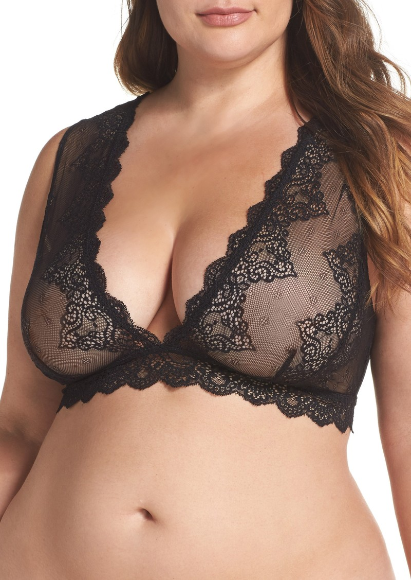 7906fa3ec72 Only Hearts Only Hearts So Fine Lace Bralette (Plus Size)
