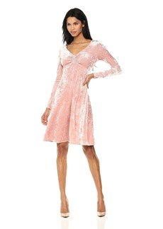 Only Hearts Women's Crushed Velvet Ruched Front Dress
