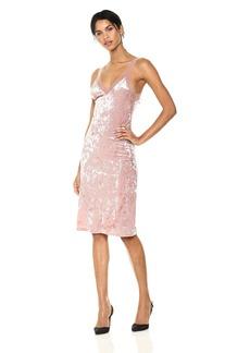 Only Hearts Women's Crushed Velvet Slip Dress