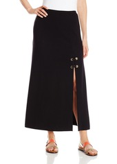 Only Hearts Women's Double Knit Long Skirt with Front Slit
