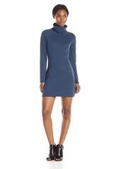 Only Hearts Women's Double Knit Raglan Mockneck Long Sleeve Dress