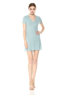 Only Hearts Women's Feather Weight Rib V-Neck Tee Dress