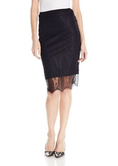 Only Hearts Women's French Lace Pencil Skirt Lined