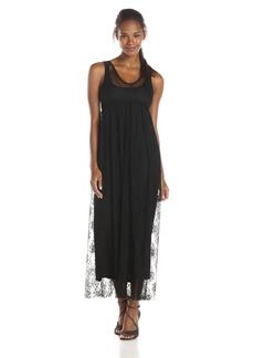 Only Hearts Women's Lattice Lace Boatneck Dress with Liner