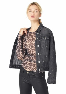Only Hearts Women's Leopard Tulle Long Sleeve Crew Neck