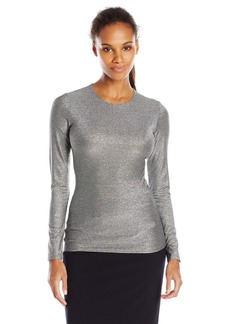 Only Hearts Women's Metallic Jersey Crew Neck Long Sleeve
