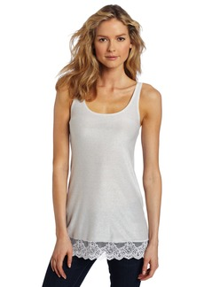 Only Hearts Women's Metallic Jersey Lace Tunic Tank Top