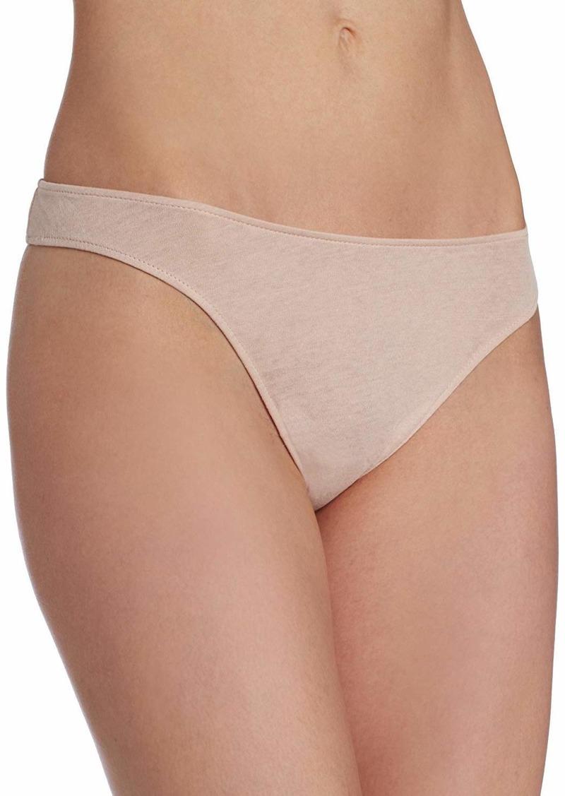Only Hearts Women's Organic Cotton Basic Thong Panty  Medium/Large