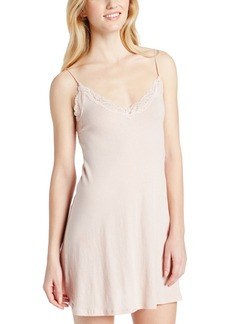 Only Hearts Women's Organic Cotton Lace Trimmed Chemise