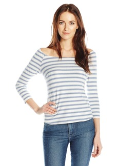 Only Hearts Women's Recycled Stripe 3/4 Sleeve Tee  M