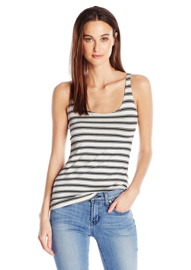 Only Hearts Women's So Fine Stripe Skinny Tank Black L