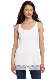Only Hearts Women's So Fine Tank Tunic With Lace