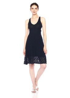 Only Hearts Women's Stretch Lace Cross Back Dress  L
