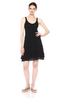Only Hearts Women's Stretch Lace Ruffle Bottom Dress  M