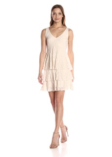 Only Hearts Women's Stretch Lace Tiered Dress  L