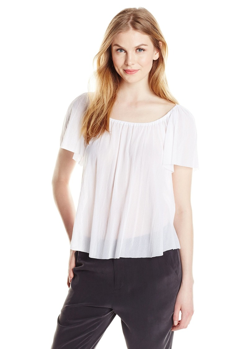 Only Hearts Women's Tulle Flutter Sleeve Top 1 Ply  Medium/Large