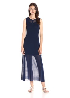 Only Hearts Women's Tulle with Lacing Long Henley Dress